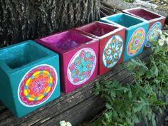 Resultado de imagen para objetos decorados pintados a mano con acrilico