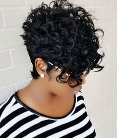 Short Curly Quick Weave My Work Short Hair Styles Hair Styles