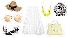 Enjoy the summer with Clara-Veritas Shoes and Handbag! :)  Handbag & Shoes - Clara-Veritas Skirt - JIL SANDER Shirt - Topshop Sunglasses - Ray-Ban Hat - Eugenia Kim Neckless - Ted Baker
