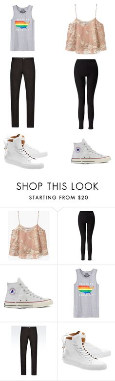"""""""Untitled #220"""" by kassidyrobinson on Polyvore featuring MANGO, Miss Selfridge, Converse, Univibe, Emporio Armani and BUSCEMI"""