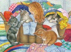 Amy Rosenberg Cats In Laundry