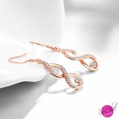 Boucles d'oreilles - Infinity cristal - Boutique Sochic  Prix >>