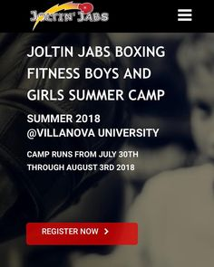 I am so EXCITED!...Link is in bio....Joltin Jabs 2018 Summer Day Camp at Villanova for boys and girls is up now and available on my website! The camp will run from July 30th-Aug 3rd 2018 for ages 10-18 from 9AM to 4PM. Price is $645 which will include boxing gloves hand wraps t-shirt gear bag and lunch served daily. I have developed a specific training routine for youths that focuses not only on building their distinct strengths but teaches the skills necessary to deal with adversity and…