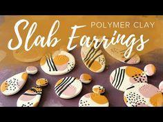 (1) Easy Polymer Clay Slab Earrings Tutorial - YouTube Easy Polymer Clay, Polymer Clay Ornaments, Polymer Clay Christmas, Polymer Clay Canes, Polymer Clay Flowers, Polymer Clay Beads, Diy Clay Earrings, Polymer Clay Necklace, Polymer Clay Pendant