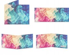 Modern color bomb pattern Design! Decorative pattern in modern Low Poly in HDR colors.
