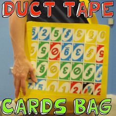 Duct Tape Cards Bag - how to make a tote bag made out of duct tape and playing cards. Doing this right now!