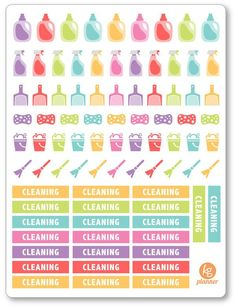 Cleaning Kit Stickers