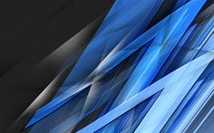 Download wallpapers blue shards, 4k, lines, dark background, art, abstract material