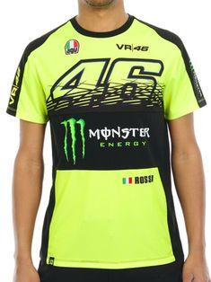 b8fd865dc Valentino Rossi Monster Energy Fluorescent Yellow Sponsor T-Shirt Monster  Energy, Yellow, Vr46