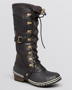 $Sorel Conquest Carly Lace Up Cold Weather Boots - Bloomingdale's