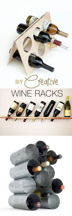 OMG, why did i never think of making my own wine rack? DIY Creative Wine Racks • Ideas & Tutorials!