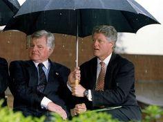 President Bill Clinton and Senator Ted Kennedy