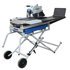Kobalt HP Wet Tabletop Sliding Table Tile Saw with with Stand at Lowe's. The improved Kobalt tile saw has a max rip capacity up to 36 inches, a diagonal cut capacity, with a in max depth of cut. This saw is Led Work Light, Work Lights, Kitchen Interior, Kitchen Decor, Natural Stone Pavers, Rip Cut, Sliding Table, Electrical Switches, Tile Saw