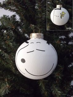 snoopy and other peanuts characters as painted holiday ornaments snoopy charlie brown lucy linus sally all available as a set or individually - Charlie Brown And Snoopy Christmas Decorations
