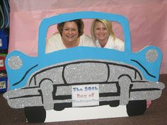 Cute 50's car for students to take pictures in on the 50th day of school! Great to add to the memory books!