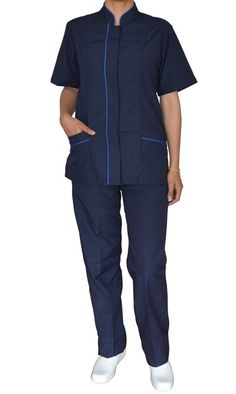 uniforme Conjunto Botón Oculto Spa Uniform, Hotel Uniform, Maid Uniform, Healthcare Uniforms, Housekeeping Uniform, Work Fashion, Casual Wear, Jumpsuit, Clinic