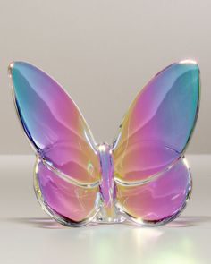 "Baccarat ""Lucky"" Butterfly, Irise Iridescent at Neiman Marcus Butterfly Kisses, Butterfly Art, Rainbow Butterfly, Butterfly Table, Madame Butterfly, Butterfly Gifts, Butterfly Pictures, Butterfly Wedding, Casa Anime"