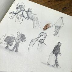 Having a doodle at st. Pancras #artwork #sketch #sketchbook #doodle #figurestudy #drawing #travelshooteditrepeat