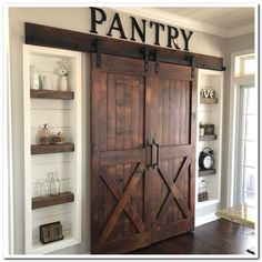 39 Mind-blowing Kitchen Pantry Design Ideas for Your Inspiration ⋆ aviatech.xyz 39 Mind-blowing Kitchen Pantry Design Ideas for Your Inspiration ⋆ aviatech. Kitchen Pantry Design, Home Decor Kitchen, Home Kitchens, Farm Kitchen Ideas, Barn Kitchen, Country Kitchens, Diy Kitchen, Awesome Kitchen, Modern Farmhouse Kitchens