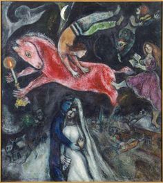 A Red Horse, 1938 - Marc Chagall