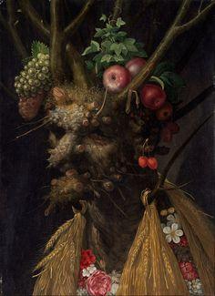 "Giuseppe Arcimboldo - ""Four Seasons in One Head"" (1590)"