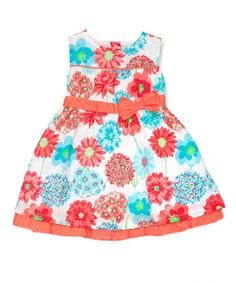 Turquoise A-Line Dress - Infant, Toddler & Girls #zulily #zulilyfinds