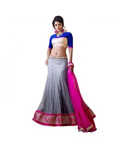 Grey Stone Work Lehenga Just @Rs.5,316 55% OFF  Click Here To Buy:-http://www.ethnicstation.com/grey-stone-work-lehenga-rc5518  #StoneWorkLehenga #EthnicWear