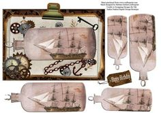 Ship In The Bottle Steam Punk Pyramid Topper on Craftsuprint - Add To Basket!