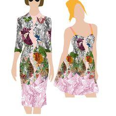 design de imprimeuri textile, textile design pattern Summer Dresses, Formal Dresses, Textile Design, Pattern Design, Textiles, Store, Fashion, Flowers, Dresses For Formal