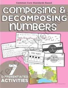Composing and Decomposing Made Simple - Ten lucky winners will walk away with their hands on the instant download that makes composing and decomposing numbers 11-19 simple! You'll get a stash of differentiated materials perfect for kindergarten and all you have to do is print!.  A GIVEAWAY promotion for Composing and Decomposing Numbers (11-19