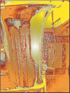 'Wandkachel rot-braun-gelb' von Rudolf Büttner bei artflakes.com als Poster oder Kunstdruck $18.02