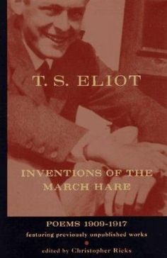 "This extraordinary trove of previously unpublished early works includes drafts of poems such as ""The Love Song of J. Alfred Prufrock"" as well as ribald verse and other youthful curios. ""Perhaps the most significant event in Eliot scholarship in the past twenty-five years"" (New York Times Book Review). Edited by Christopher Ricks."