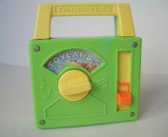 Fisher Price Vintage Radio, Toyland Green and Yellow Fisher Price Radio $11.00