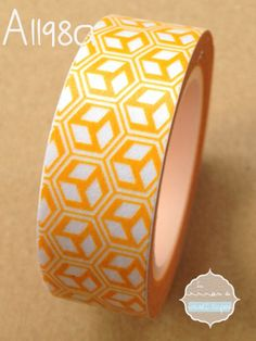 Washi tape cubos amarillo
