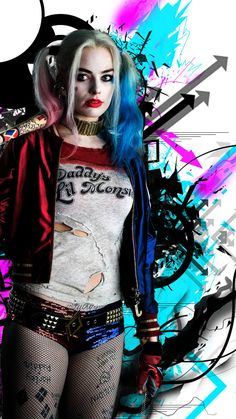 Harley Quinn Pictures HD Wallpaper For iPhone with image resolution pixel. You can use this wallpaper as background for your desktop Computer Screensavers, Android or iPhone smartphones Harley Quinn Tattoo, Harley Quinn Drawing, Harley Quinn Halloween, Joker Und Harley Quinn, Harley Quinn Cosplay, Arlequina Margot Robbie, Margot Robbie Harley Quinn, Steam Punk, Harey Quinn
