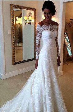 wedding dress 40 Beste weg von der Schulter Brautkleider