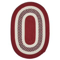 Charlton Home Germain Red Area Rug Rug Size: Oval 2' x 10'