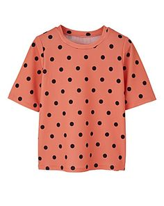Spot Print Jersey Waffle Shell Top | Simply Be
