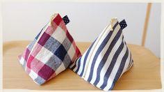 縫わずに作る三角ポーチの作り方/ボンド 裁ほう上手を使用♪/内布ナシ