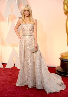 Anna Faris in a @ZMuradOfficial Spring 2015 Couture gown.  See Every Look from the 2015 Oscars Red Carpet  - MarieClaire.com