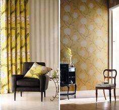 Wallpaper Of Wallpaper, Color Patterns, Paper Walls, Design Inspiration, October 2013, Curtains, Dining, Interior Design, Shop Ideas