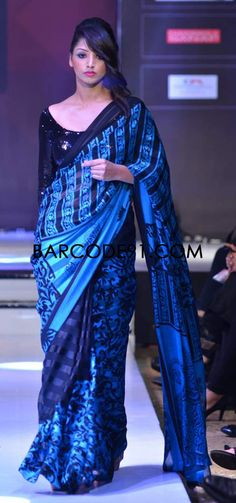 http://www.barcode91.com/ Nitya Sing's beautiful saree collection at Signature Premier Pune Style Week 2013