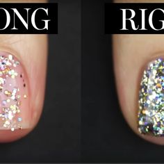 How To Put On Glitter Nail Polish