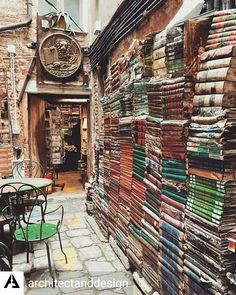 Aqua Alta Bookstore in Venice Italy