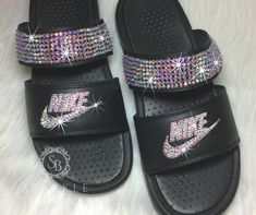 Surf womens event sandals, good water shoes, & more constructed for comfort & longevity. Bedazzled Shoes, Bling Sandals, Bling Shoes, Cute Sandals, Sandals Outfit, Sport Sandals, Women Sandals, Shoes Women, Crocs Fashion