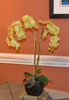 floral home decor silk orchids - Silk Orchids