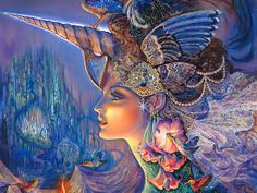 Art of the imagination - Josephine Wall Art Wallpapers - My Lady Unicorn - Fantasy Goddess by Josephine Wall 18 Josephine Wall, Fantasy World, Fantasy Art, Art Expo, Art Visionnaire, Unicorn Fantasy, Unicorn Art, Inspiration Art, Visionary Art