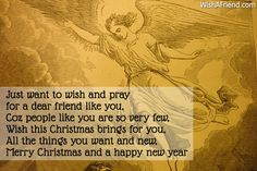 Christmas Messages for Friends Christmas Messages For Friends, Dear Friend, Happy New Year, Pray, First Love, Text Posts, First Crush, Puppy Love, Happy New Year Wishes