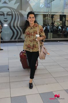 Taapsee Pannu Snapped At Domestic Airport