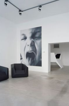 OVERSIZED huge black and white wall portrait with big impact | I would love to print an image that large.